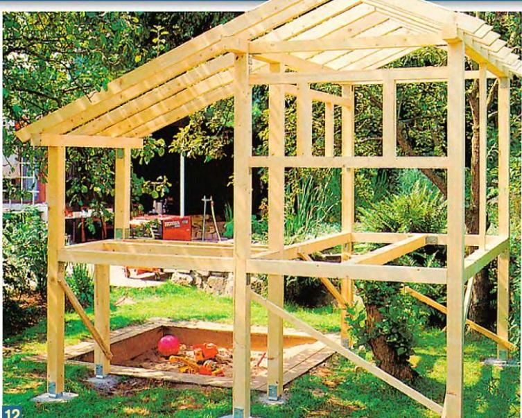Как построить детский домик своими руками из дерева 143
