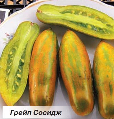 Необычные сорта томат с вытянутыми, полосатыми плодами.