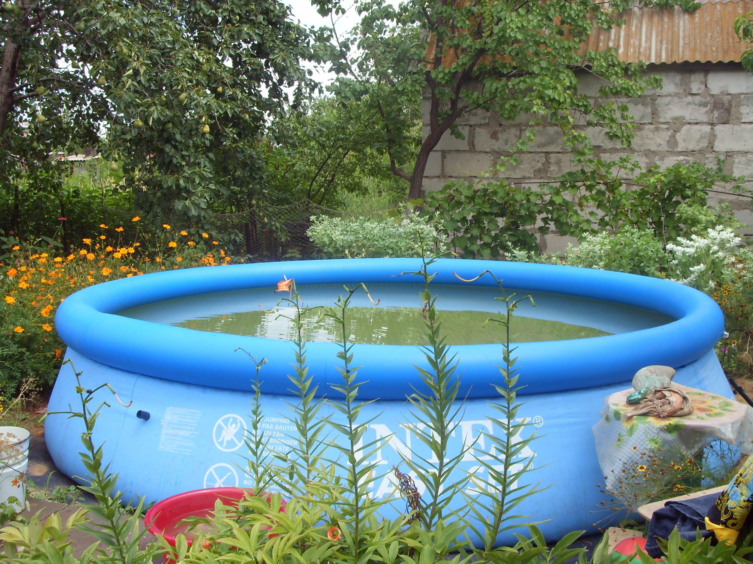 Маленький бассейн своими руками фото
